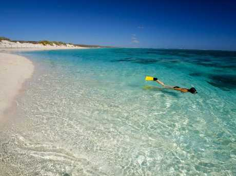 Turquoise Bay is a popular snorkelling spot.