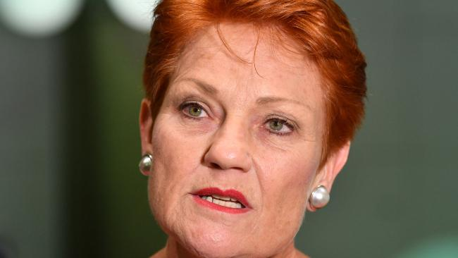 One Nation Leader Senator Pauline Hanson. Picture: Darren England/AAP
