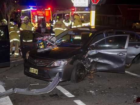 The falcon collided with two cars at the intersection of Mamre Road and Great Western Highway. Picture: Dean Asher