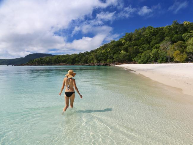 Whitehaven Beach is not just Australia's best, it's one of the world's top beaches. Picture: Tourism and Events Queensland