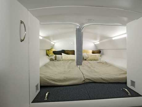 Inside the pilot rest area in a Dreamliner.