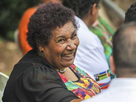 Thelma Coleman at the celebration of the native title determination, at Gladstone Marina.
