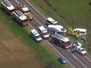 9 injured in crash