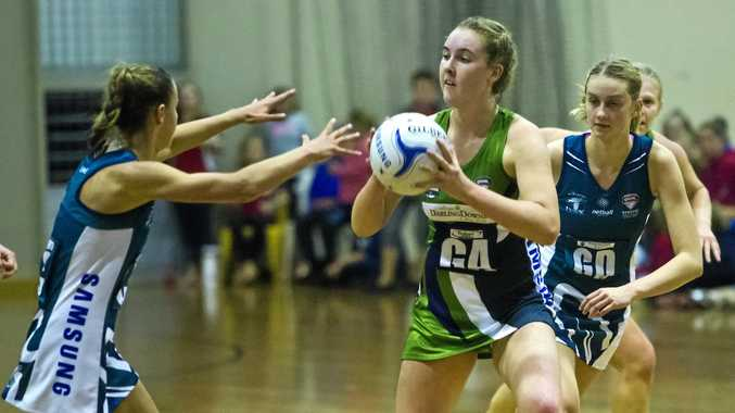 Mia Stower in action for the Darling Downs Panthers in their game against the Sunshine Coast Lynx.
