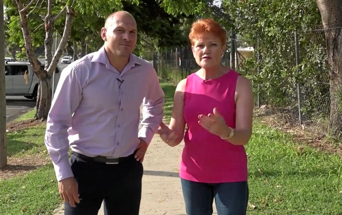 DIRTY TACTICS: One Nation's Rockhampton candidate Wade Rothery said there has been a concerted effort to derail his election campaign.