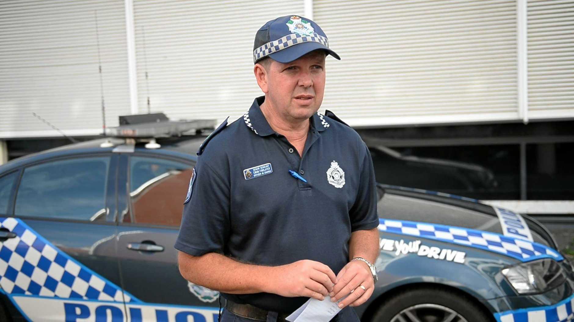 Senior Sergeant Ewan Findlater. Photo Allan Reinikka / The Morning Bulletin