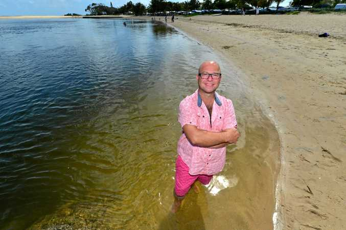 HERO: Melbourne man Ben Wilson-Powell was in the right place at the right time yesterday. He saved a mans life using CPR at Cotton tree.