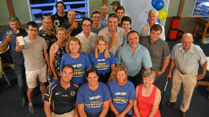 Member for Whitsunday Jason Costigan was at Eimeo Hotel with supporters as the number started coming in.