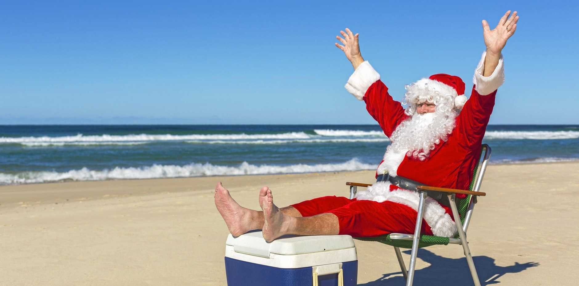CLAUS FOR CELEBRATION: Whether you beach it or backyard it, make Christmas special by doing what works for you.