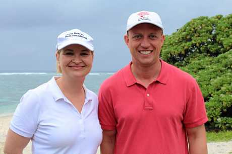 Great Barrier Reef Foundation managing director Anna Marsden and State Environment Minister Steven Miles.