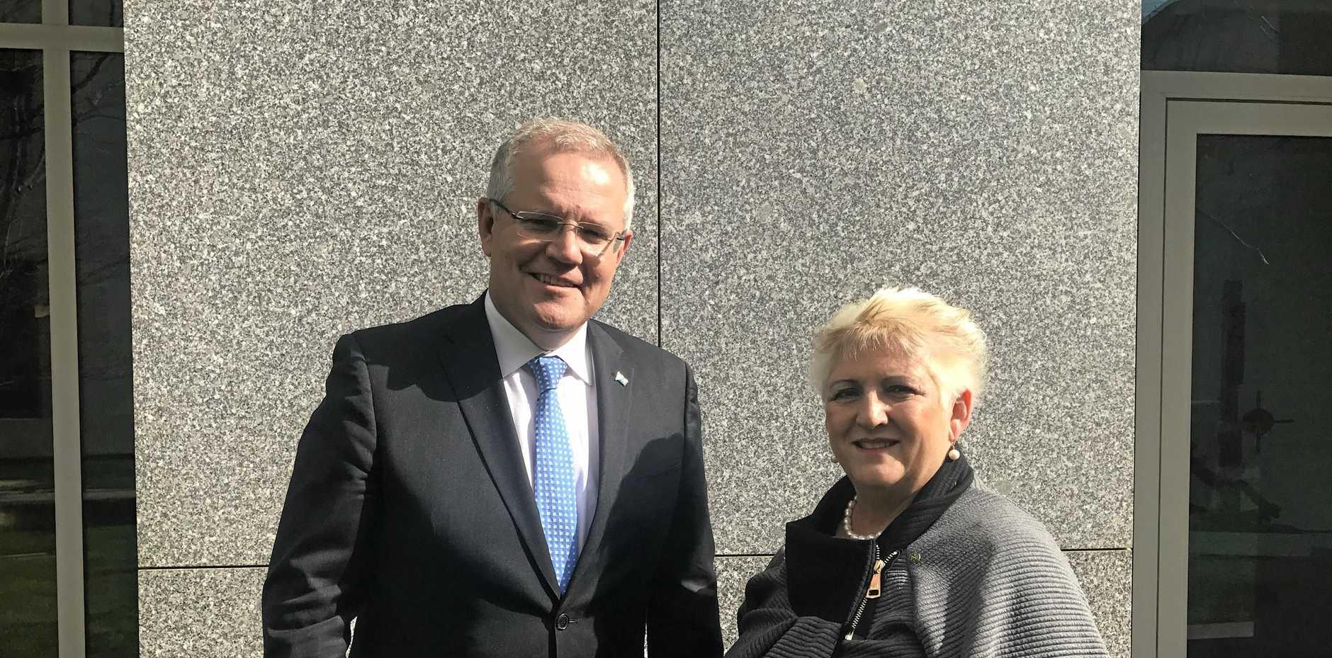 Michelle Landry has been in talks with Treasurer Scott Morrison