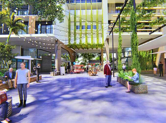 AN artist's impression of the village heart forecourt for the redeveloped Sundale nursing home in Nambour that will set new standards for assisted care living.