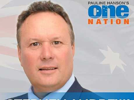 One Nation candidate for Mirani Stephen Andrews.