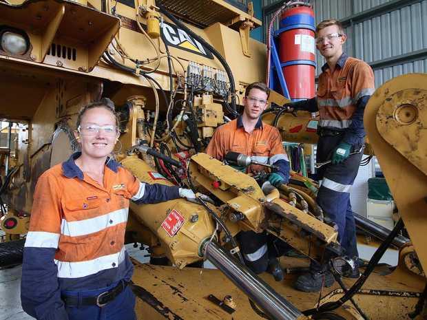 Hastings Deering workers Rockhampton workshops Dannielle Weston, James Inslay, Riley Stewart