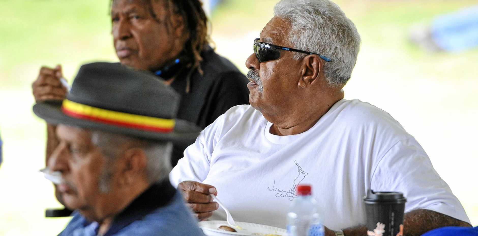 MORE TO BE DONE: Gooreng Gooreng elder Richard Johnson at the Gladstone Marina.
