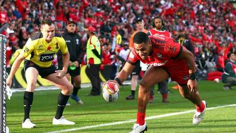 Fusitu'a scored three tries in the historic win over New Zealand.