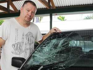 Driver shocked as man leapt into windscreen