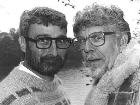 Don Burke, pictured with Rolf Harris, has denied the allegations made against him.