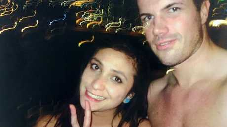 Selfie of Warriena Wright and Gable Tostee taken on the night that Wright fell to her death.