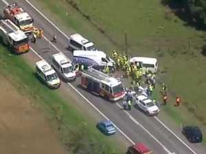 Horror head-on crash injures nine, including three children