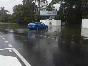 Flash flooding in Hervey Bay