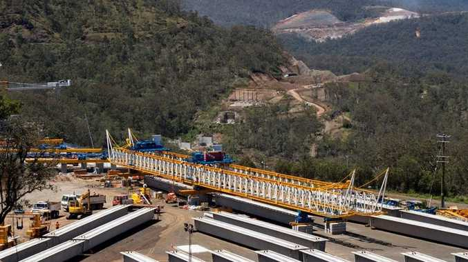 Super T girders ready for installation at the TSRC viaduct.