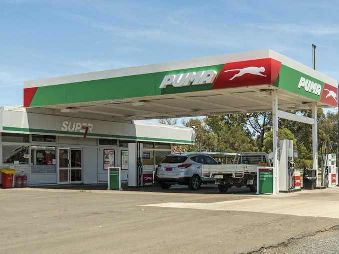 The Puma Energy service station in Oakey is up for auction next month.