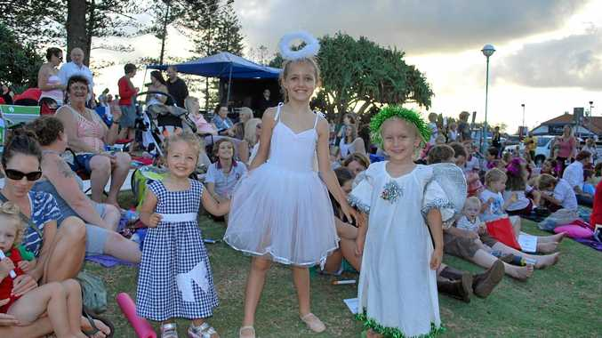 CAROLS: At Carols by the Sea 2014 in Byron Bay were Brylee Paskins, Allarah Paskins and Xion Jarvis.