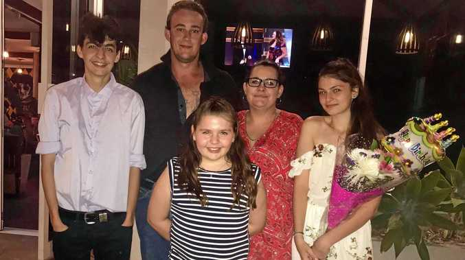 Trudi Holland with Brendon Maxwell and children, Tejay, Chelsey and Savanna Reed. INSET: Freddie Highmore stars as Shaun Murphy in  The Good Doctor .