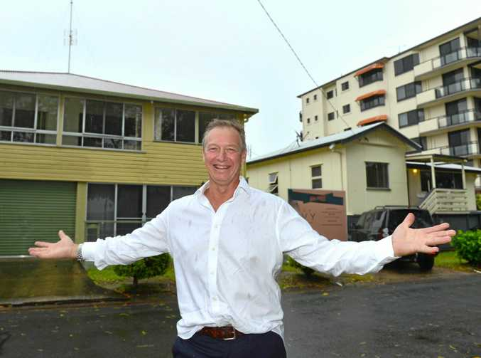 Ex- professional tennis player Mark Kratzmann announces his new property development in Maroochydore, The Ivy Picnic Point, which will begin construction soon.