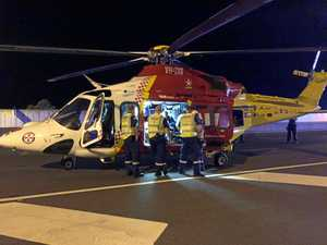 Motorbike rider seriously injured in crash