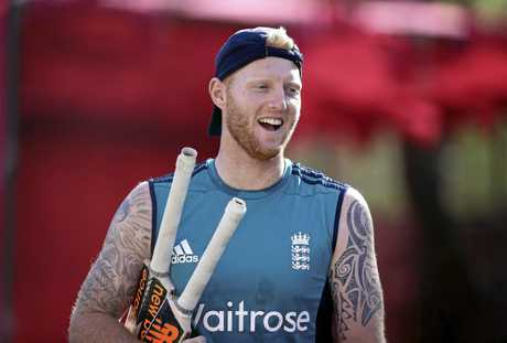 England cricketer Ben Stokes gets ready for a stint in the nets.
