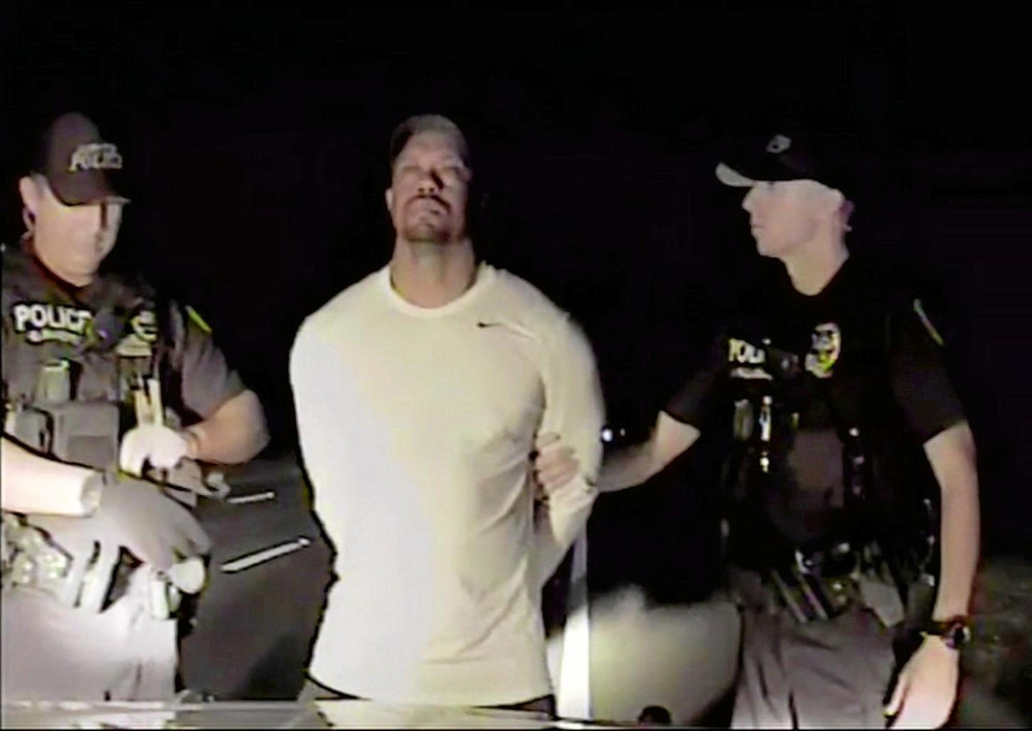 Tiger Woods is arrested by Florida police in May after he was found asleep at the wheel of his car.