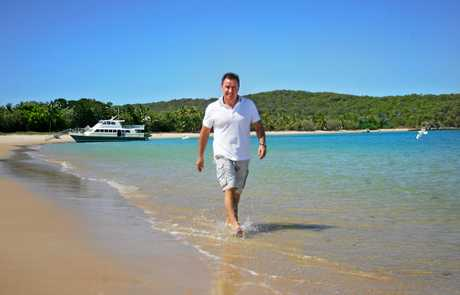Tower Holdings Chairman and CEO Terry Agnew on Great Keppel Island.