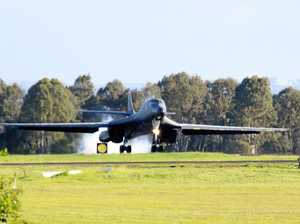 Supersonic bombers make touch down