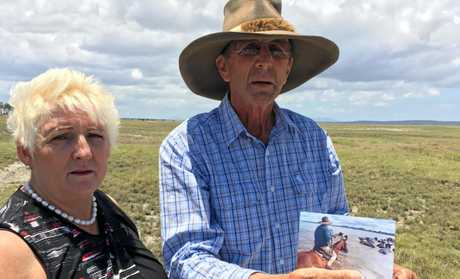 Capricornia MP Michelle Landry with Lawson Geddes at his Couti-Outi property in the proposed Shoalwater Bay Military Training Area expansion area.