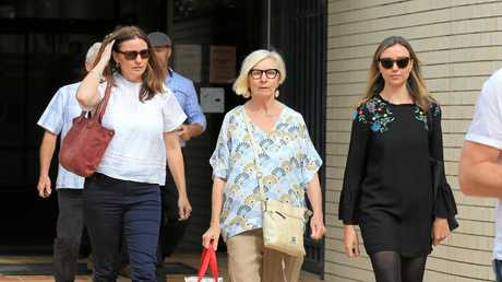 Friends and family of Zachariah Blayden leave Tweed Heads Court on Wednesday afternoon.