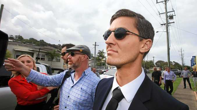 Defendant Zachariah Blayden leaves Tweed Heads Local Court on Wednesday afternoon after Magistrate Michael Dakin postponed judgement on the arson case against him.