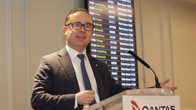 Qantas CEO Alan Joyce has said the same-sex marriage bill must pass unamended. Picture: Ella Pellegrini