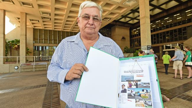 Peter Newey of the TRRA handed a petition with 51,000 signatures to the Townsville City council wanting Adani cole mine stopped.