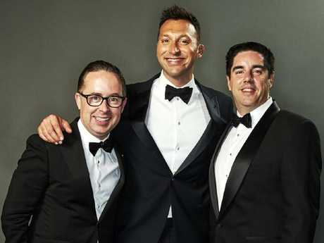 Alan Joyce, Ian Thorpe and Shane Lloyd at the GQ Men of the Year Awards 2017. Picture: Supplied