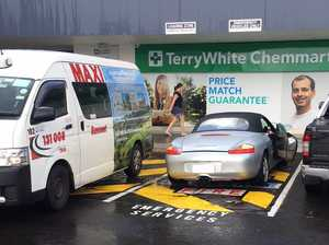Porsche driver found parking in 'emergency vehicles' zone