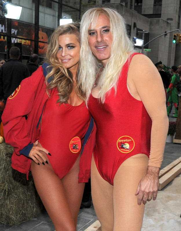 Carmen Electra and Matt Lauer at NBC's Today Show Halloween in 2013.