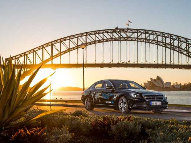 Mercedes this week took a test-bed S-Class from Sydney to Melbourne via Canberra.