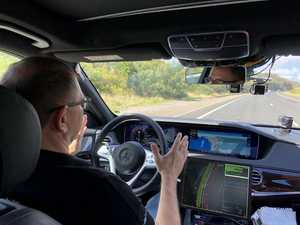 Look, no hands! Mercedes tests autonomous car in Australia