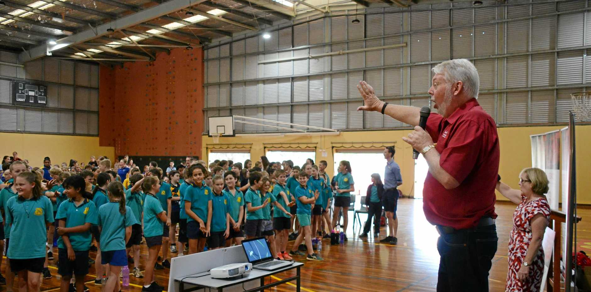 Denise and Bruce Morcombe spoke to hundreds of South Burnett primary school students about personal safety this week.