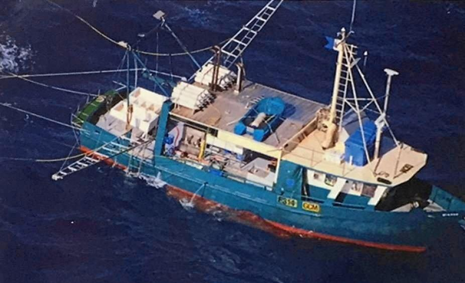 The fishing trawler Dianne, which capsized off Seventeen Seventy last month.