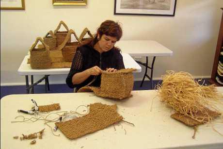 WIRADJURI: Aboriginal artist Karla Dickens during an artistic residence in 2010.