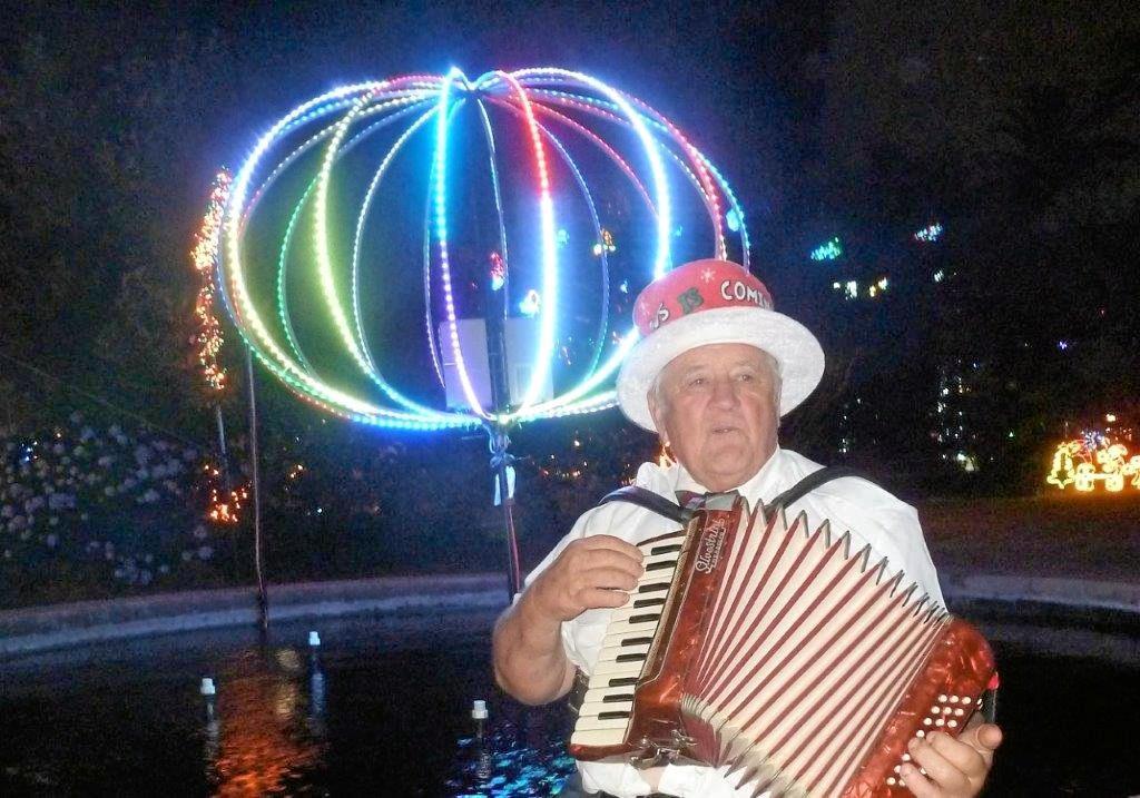 BEYOND THE LIGHTS: Roaming minstrel David Gwynne.
