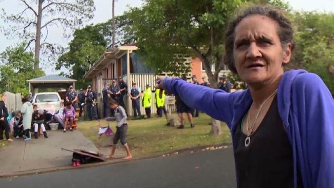 Norma Boyd was removed from her home by around 20 police officers.